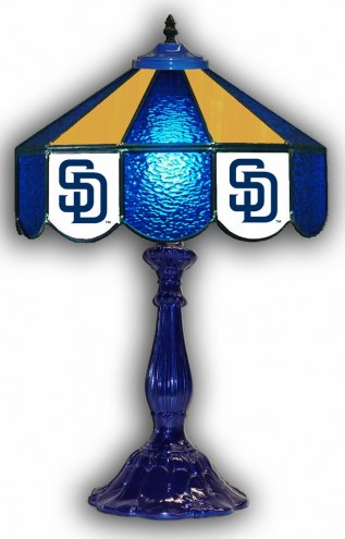 """San Diego Padres 21"""" Glass Table Lamp"""
