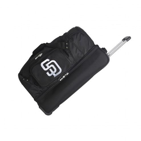 "San Diego Padres 27"" Drop Bottom Wheeled Duffle Bag"