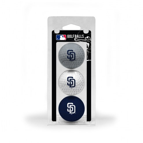 San Diego Padres 3 Pack of Golf Balls