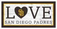 "San Diego Padres 6"" x 12"" Love Sign"