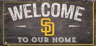 """San Diego Padres 6"""" x 12"""" Welcome Sign"""