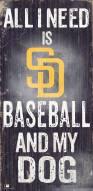 San Diego Padres Baseball & My Dog Sign