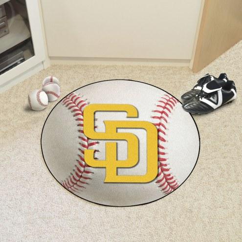 San Diego Padres Baseball Rug