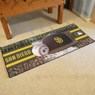 San Diego Padres Baseball Runner Rug