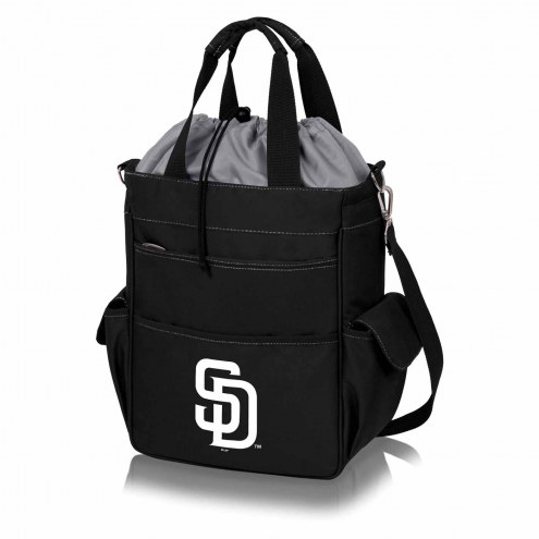 San Diego Padres Black Activo Cooler Tote