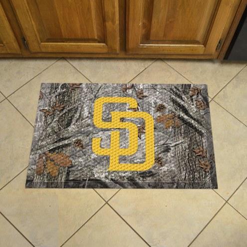 San Diego Padres Camo Scraper Door Mat