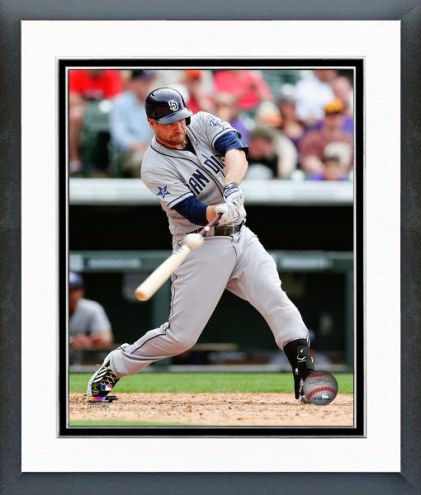 San Diego Padres Chase Headley Action Framed Photo