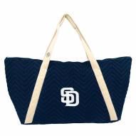 San Diego Padres Chevron Stitch Weekender Bag