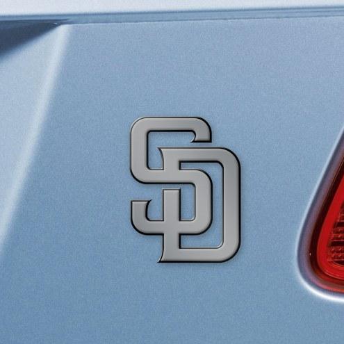 San Diego Padres Chrome Metal Car Emblem