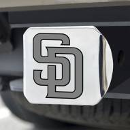 San Diego Padres Chrome Metal Hitch Cover