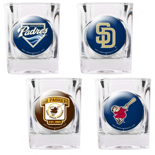 San Diego Padres Collector's Shot Glass Set