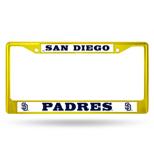 San Diego Padres Colored Chrome License Plate Frame
