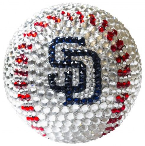 San Diego Padres Swarovski Crystal Baseball