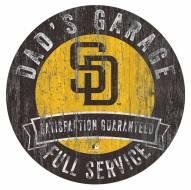 San Diego Padres Dad's Garage Sign