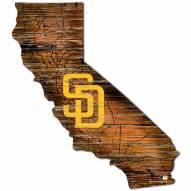 San Diego Padres Distressed State with Logo Sign
