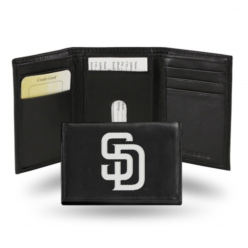 San Diego Padres Embroidered Leather Tri-Fold Wallet