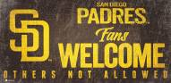 San Diego Padres Fans Welcome Sign