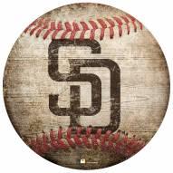 San Diego Padres Baseball Shaped Sign