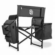 San Diego Padres Gray/Black Fusion Folding Chair