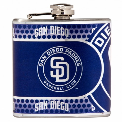 San Diego Padres Hi-Def Stainless Steel Flask
