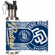 San Diego Padres Hi-Def Stainless Steel Water Bottle