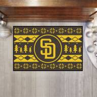 San Diego Padres Christmas Sweater Starter Rug