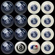 San Diego Padres MLB Home vs. Away Pool Ball Set
