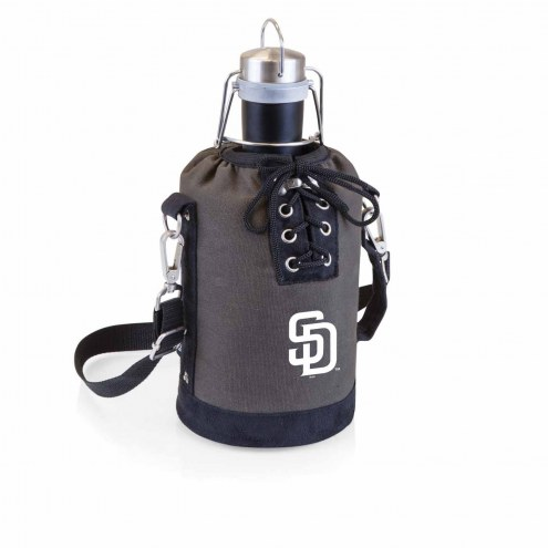 San Diego Padres Insulated Growler Tote with 64 oz. Stainless Steel Growler