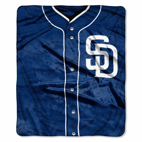 San Diego Padres Jersey Raschel Throw Blanket