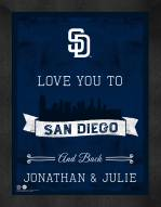 San Diego Padres Love You to and Back Framed Print