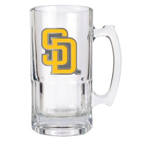 San Diego Padres MLB 1 Liter Glass Macho Mug