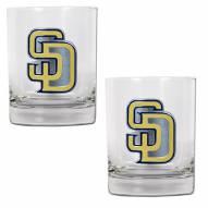 San Diego Padres MLB 2-Piece 14 Oz. Rocks Glass Set