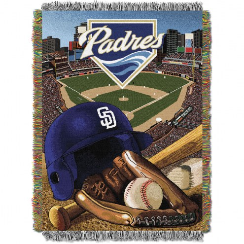 San Diego Padres MLB Woven Tapestry Throw Blanket