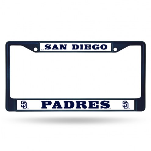 San Diego Padres Navy Colored Chrome License Plate Frame