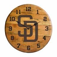 San Diego Padres Oak Barrel Clock
