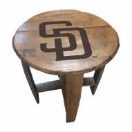 San Diego Padres Oak Barrel Table