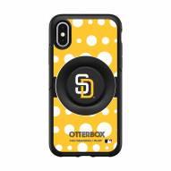 San Diego Padres OtterBox Symmetry Polka Dot PopSocket iPhone Case