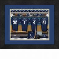 San Diego Padres Personalized Locker Room 13 x 16 Framed Photograph
