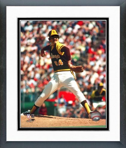 San Diego Padres Rollie Fingers Action Framed Photo