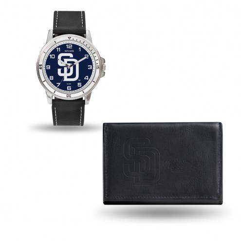 San Diego Padres Sparo Men's Chicago Watch & Wallet Set