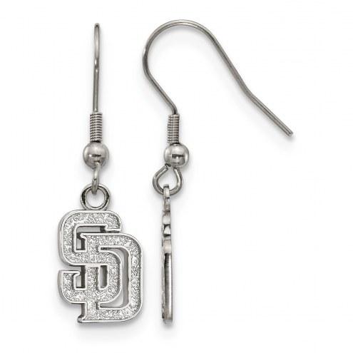 San Diego Padres Stainless Steel Dangle Earrings
