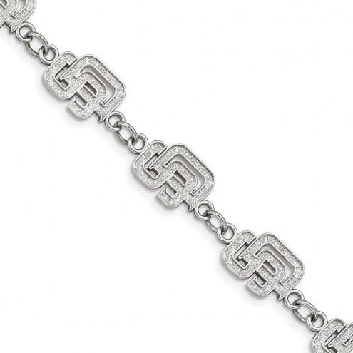 San Diego Padres Stainless Steel Logo Bracelet