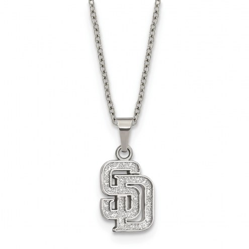 San Diego Padres Stainless Steel Pendant Necklace