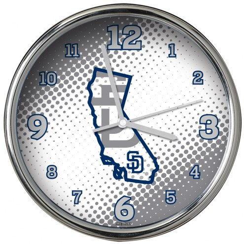 San Diego Padres State of Mind Chrome Clock