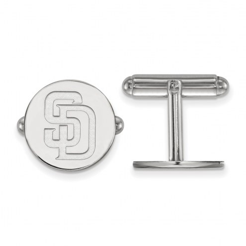 San Diego Padres Sterling Silver Cuff Links