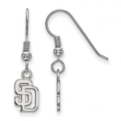 San Diego Padres Sterling Silver Extra Small Dangle Earrings