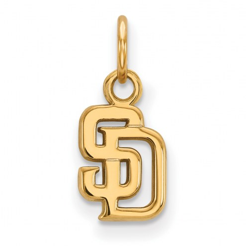 San Diego Padres Sterling Silver Gold Plated Extra Small Pendant