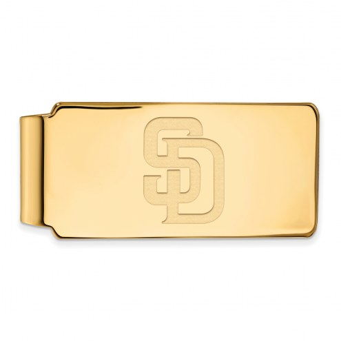 San Diego Padres Sterling Silver Gold Plated Money Clip