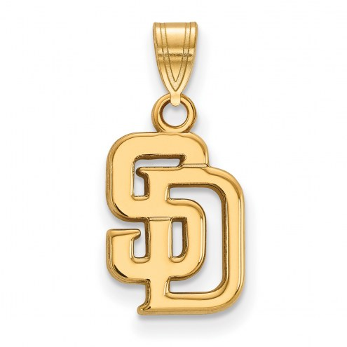 San Diego Padres Sterling Silver Gold Plated Small Pendant