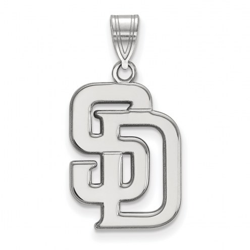 San Diego Padres Sterling Silver Large Pendant